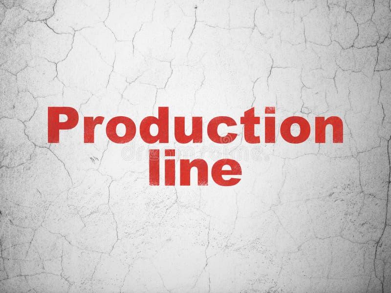De industrieconcept: Productielijn op muurachtergrond vector illustratie