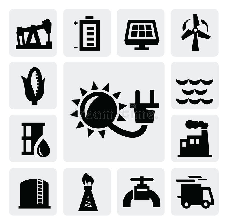 De industriepictogram van de energie vector illustratie