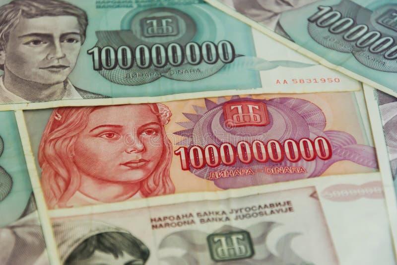 De inflatie van geldbankbiljetten royalty-vrije stock foto