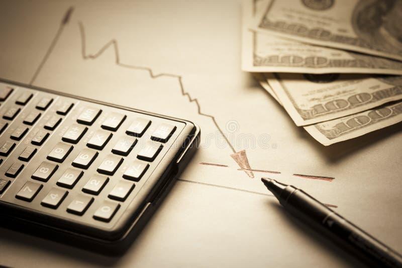 De inflatieconcept van de dollar stock afbeelding