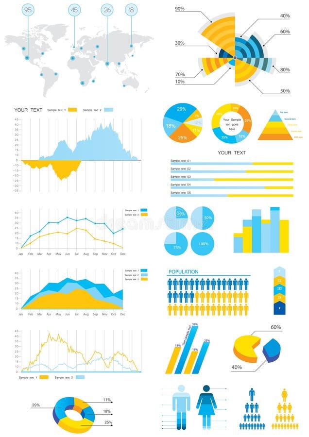 De info-grafische illustratie van het detail vector illustratie