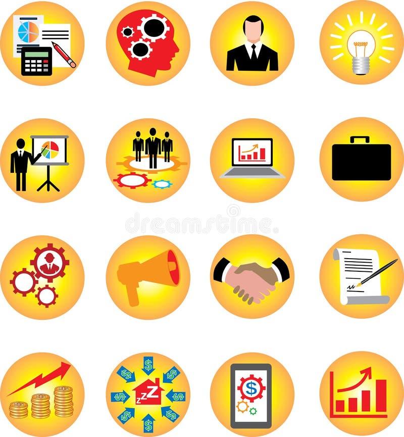 De Infographicpictogrammen plaatsen Zaken en financieren - Vectorillustratie stock illustratie