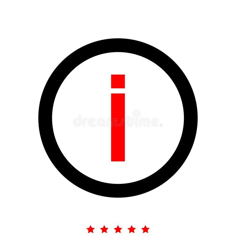 De informatie het is pictogram stock illustratie