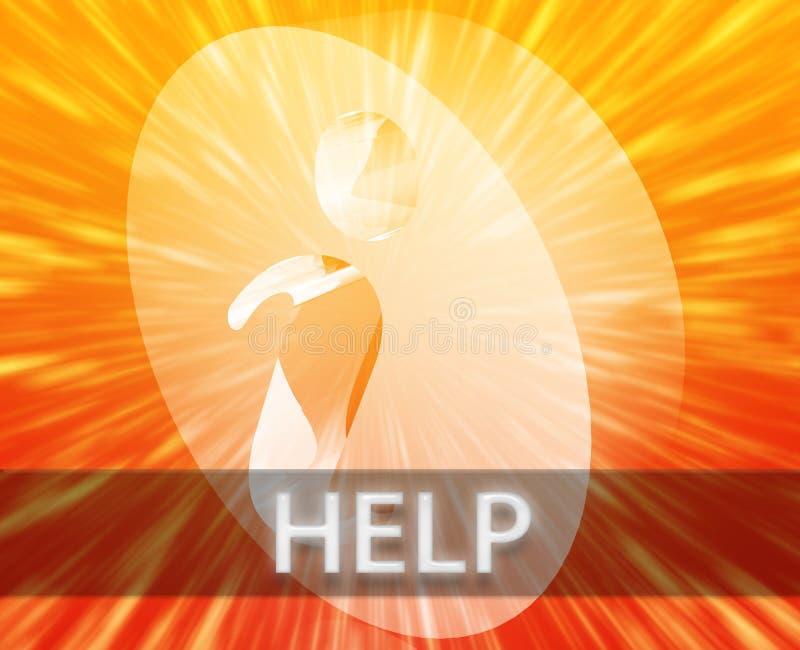 De informatie van de hulp stock illustratie