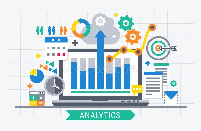 De informatie van het Analyticsonderzoek vector illustratie