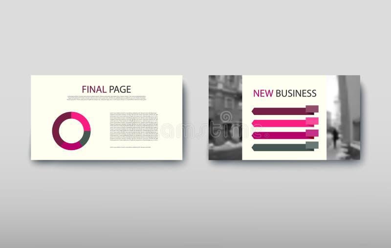 De informatie van het commerci?le van afficheinfographics de moderne advertentie ontwerpsetvoorstel vector illustratie