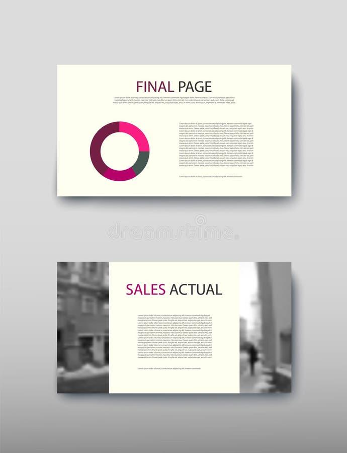De informatie van het commerci?le van afficheinfographics de moderne advertentie ontwerpsetvoorstel royalty-vrije illustratie