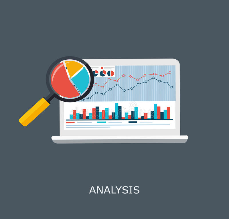 De Informatie van Webanalytics en de Statistiek van de Ontwikkelingswebsite stock illustratie
