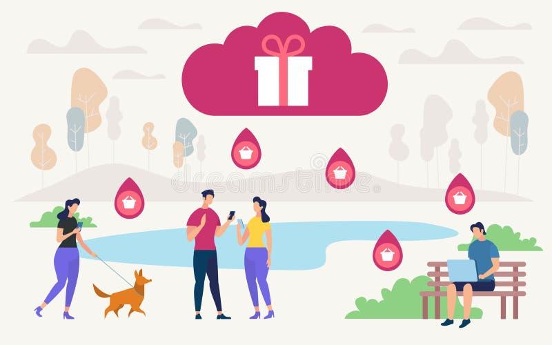 De informatie Vlakke Selectie van de Vlieger Online Gift royalty-vrije illustratie