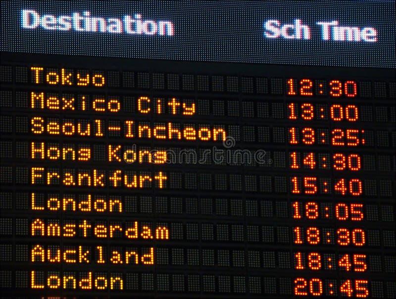 De informatieraad van de luchthaven stock afbeeldingen