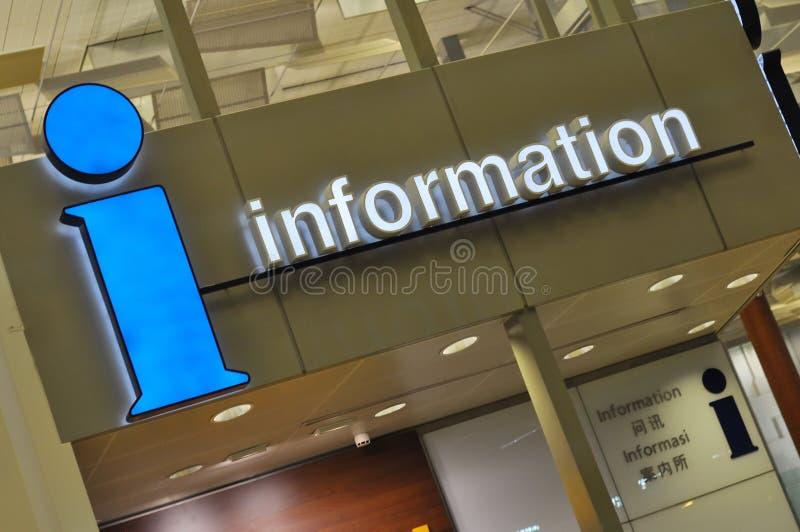 De informatietekens van de luchthaven royalty-vrije stock fotografie