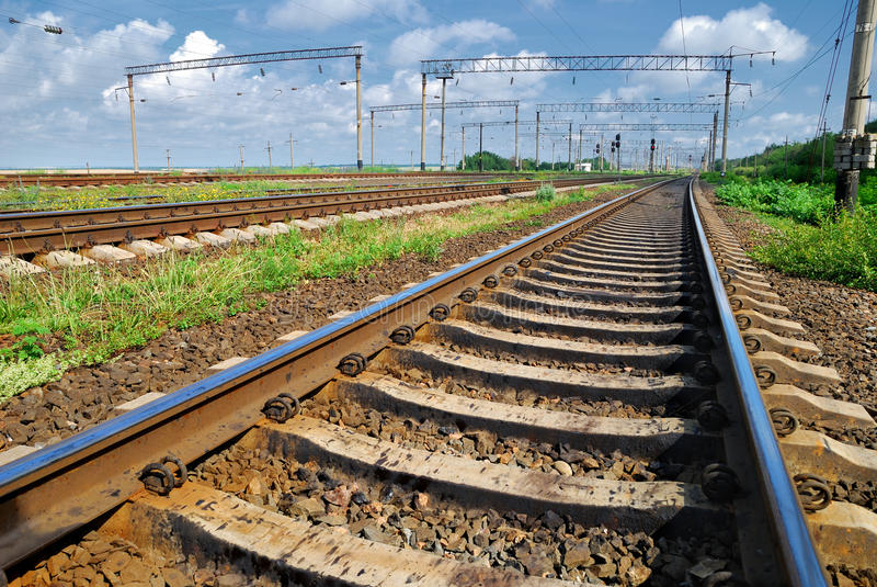 De infrastructuur van de spoorweg royalty-vrije stock afbeelding