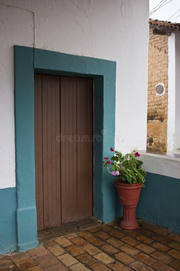 De Ingang aan een huis in San Sebastian stock fotografie