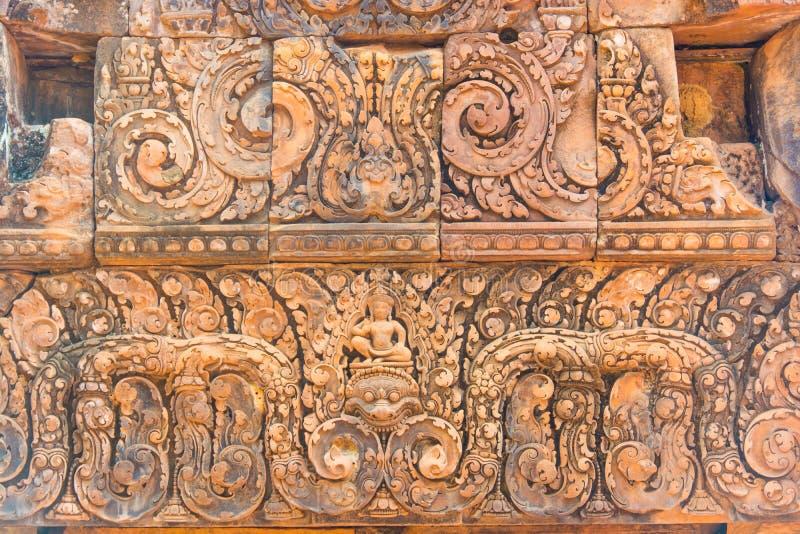 De ingang aan de steengravure is Narayana met als Narasimha stock afbeeldingen
