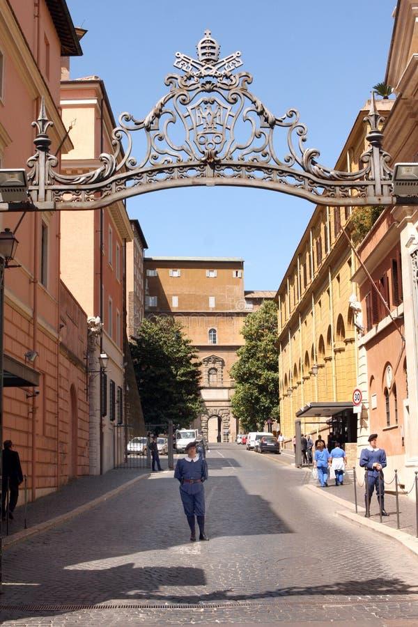 De Ingang Rome Italië van Vatikaan stock foto