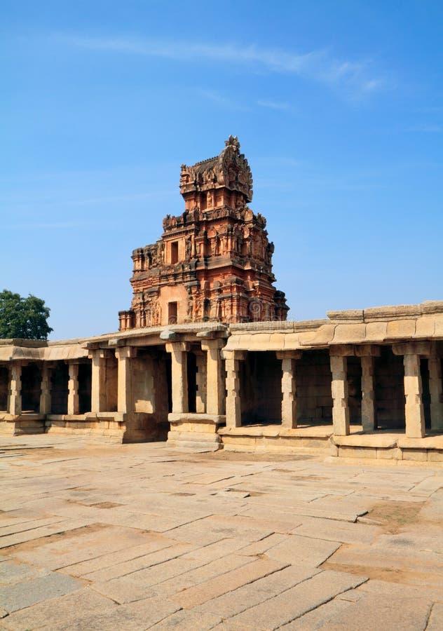 De ingang van de Krishna tempelruïnes, Hampi royalty-vrije stock foto's