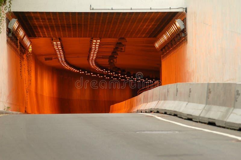 De ingang van de tunnel in Montreal 1 stock foto's