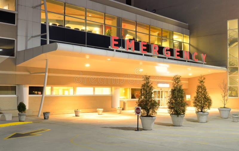 De Ingang van de Zaal van de Noodsituatie van het ziekenhuis stock foto's