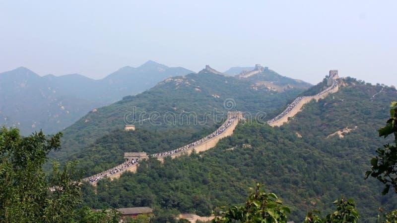 De ingang van de Grote Muur van Badaling, Peking, China stock foto's
