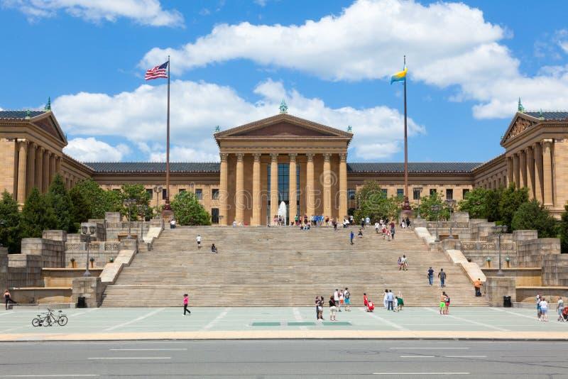 De ingang van het de kunstmuseum van Philadelphia - Pennsylvania - de V.S. royalty-vrije stock afbeelding