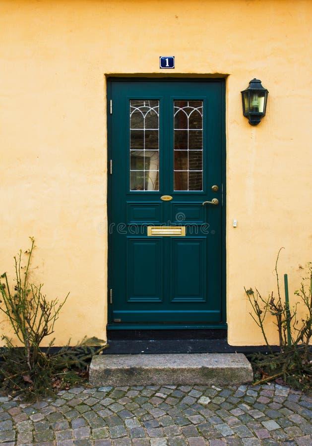 De ingang van het huis stock foto