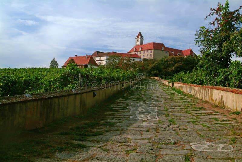 De ingang van het kasteel royalty-vrije stock fotografie