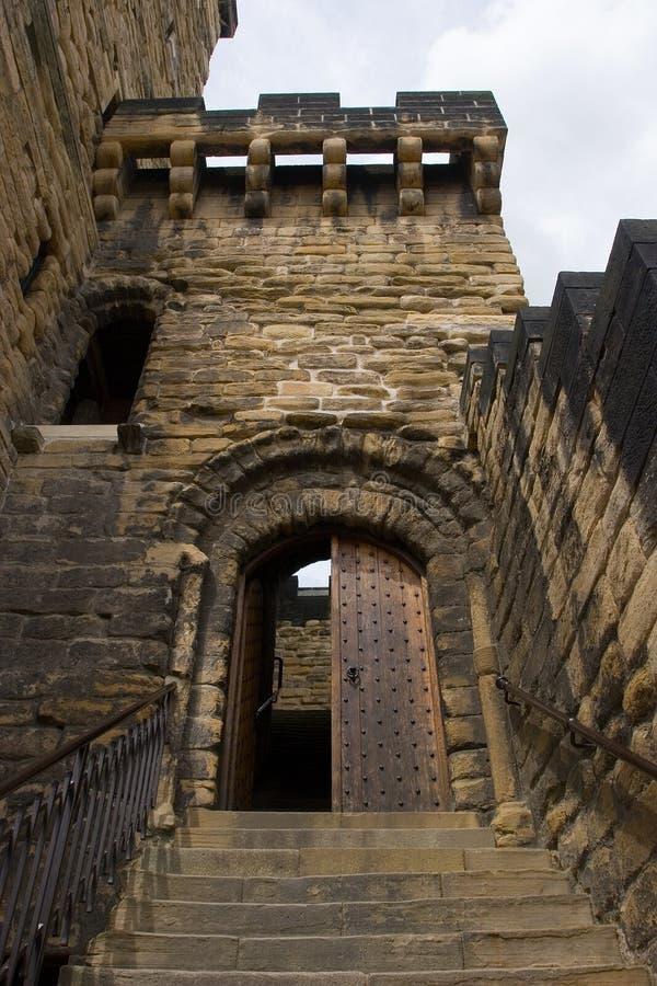 De Ingang van het kasteel stock fotografie