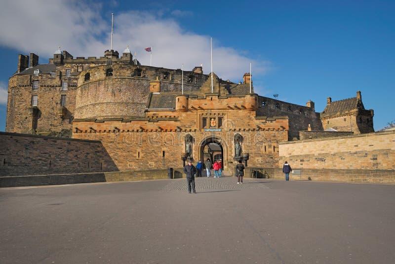 De Ingang van het Kasteel van Edinburgh royalty-vrije stock foto