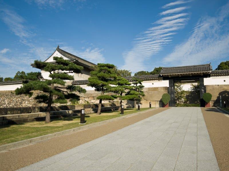 De ingang van het Kasteel van Osaka stock afbeeldingen