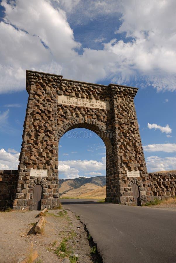 De Ingang van het noorden van Yellowstone NP. royalty-vrije stock afbeelding