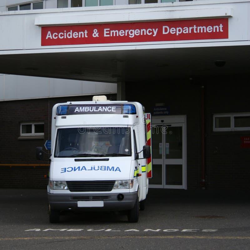 De Ingang van het ziekenhuis stock foto's