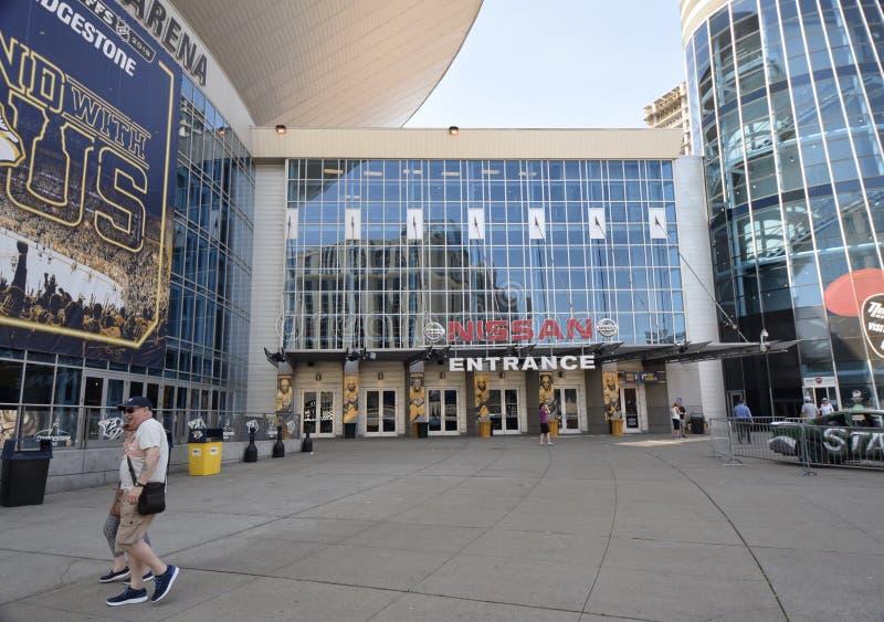 De Ingang van Nashville bij de Arena van Bridgestone, Nashville Tennessee stock fotografie