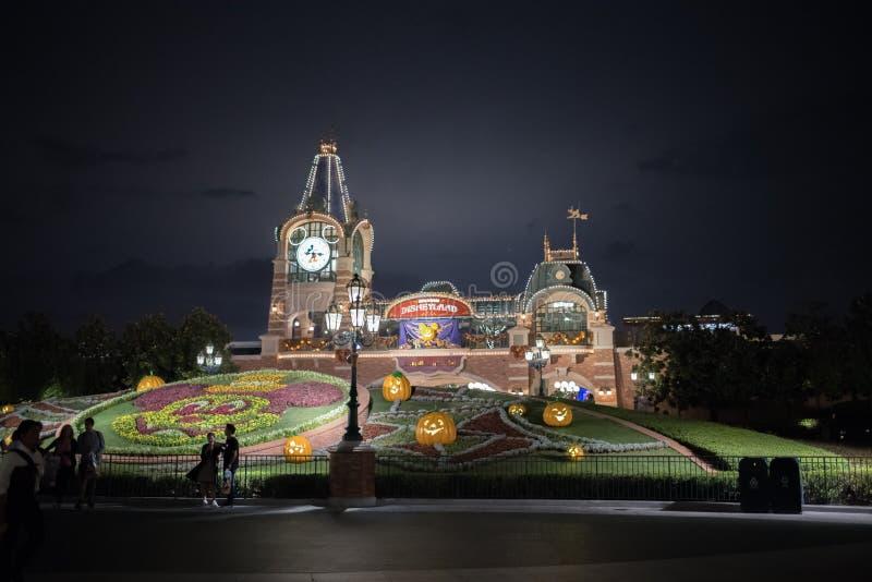 De ingang van Shanghai, China Disneyland stock afbeeldingen