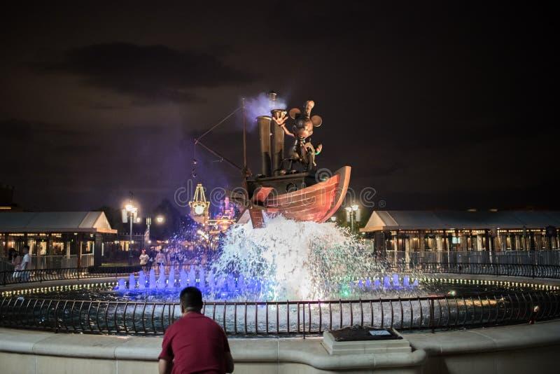 De ingang van Shanghai, China Disneyland royalty-vrije stock afbeeldingen