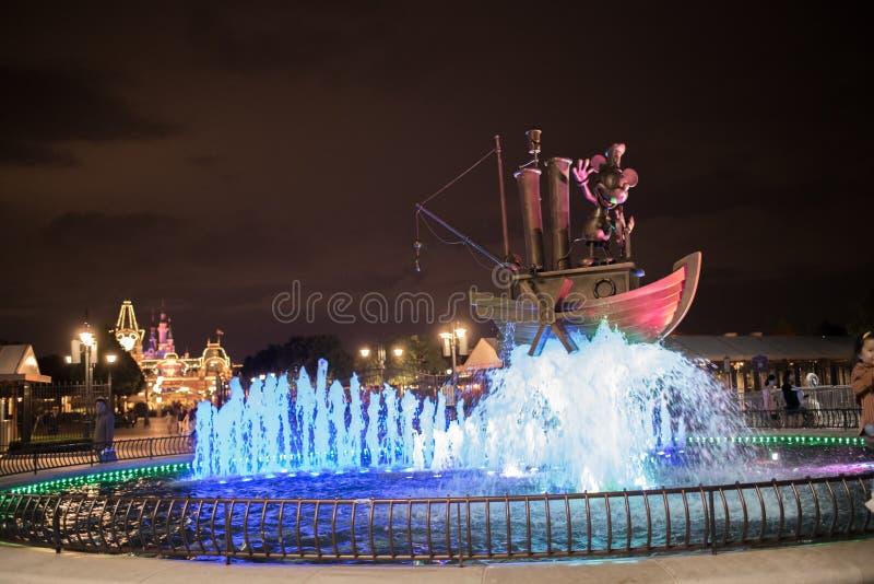 De ingang van Shanghai, China Disneyland stock fotografie