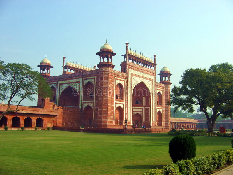 De Ingang van Taj royalty-vrije stock afbeelding