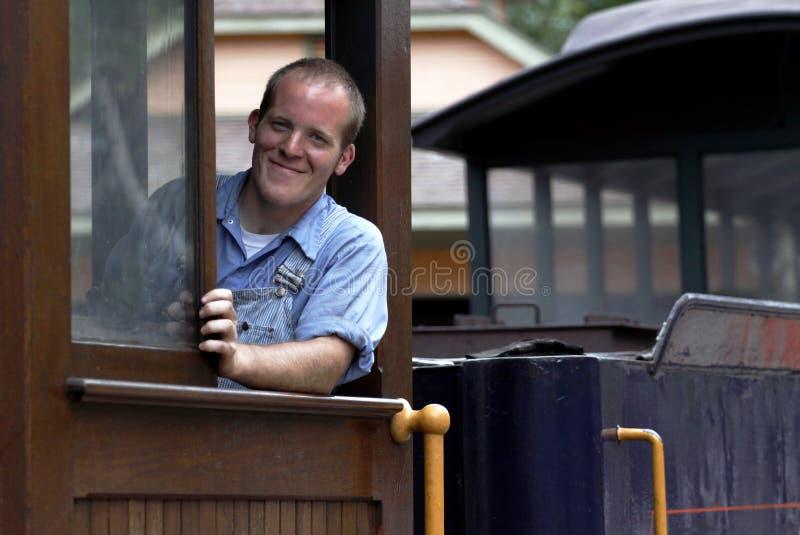 De Ingenieur van de trein stock afbeeldingen