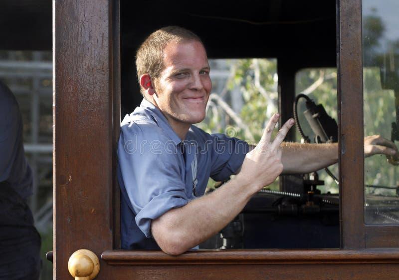De Ingenieur van de trein stock foto