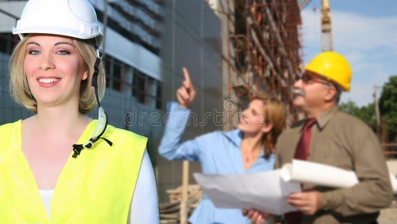 De ingenieurs van de bouw royalty-vrije stock foto's