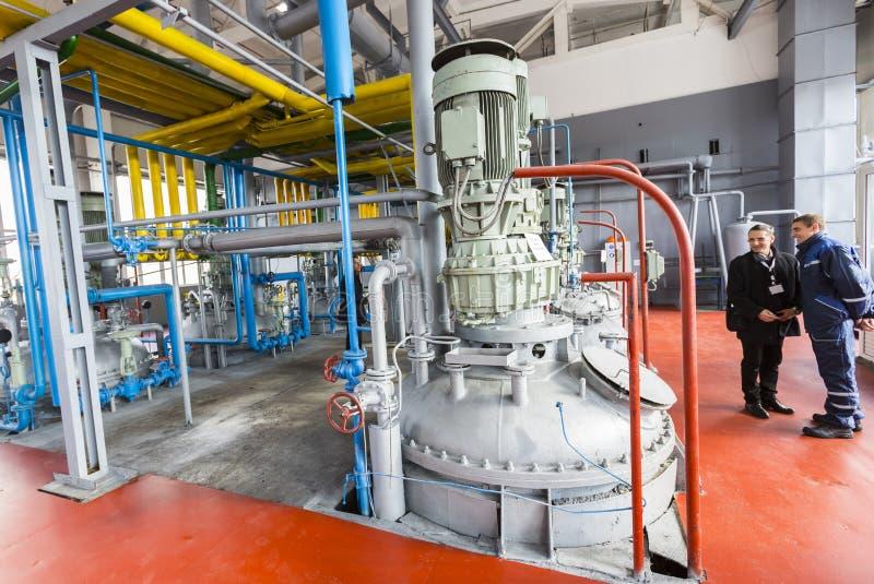 De ingenieurs van de olieraffinaderij stock foto's