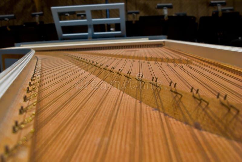 De Ingewanden van het klavecimbel stock afbeelding