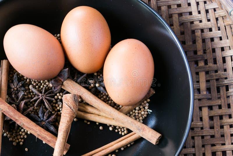 De ingrediënten mengden de Chinese soep van soep pha-Lo met eieren royalty-vrije stock afbeelding