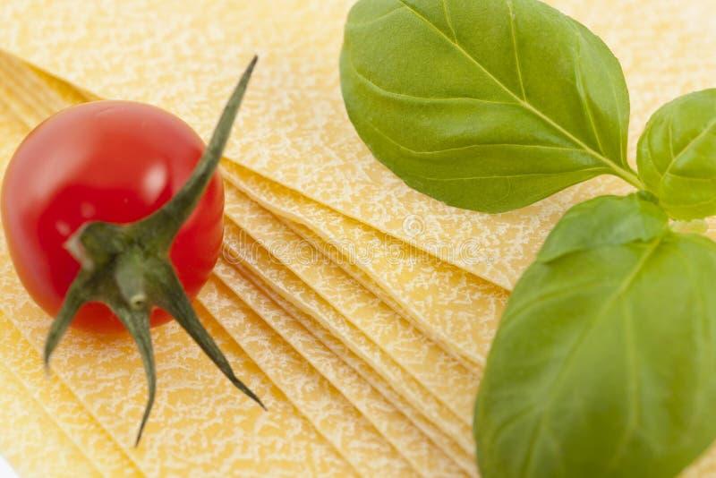 De ingrediënten van de lasagna royalty-vrije stock foto