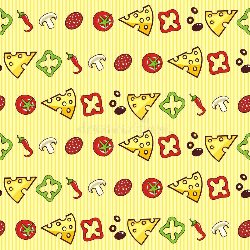De ingrediënten van de pizza vector illustratie