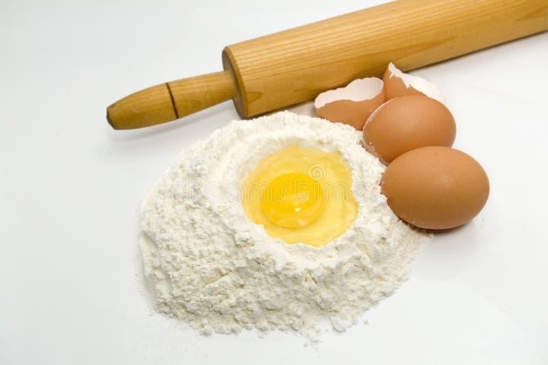 De ingrediënten van het baksel royalty-vrije stock foto