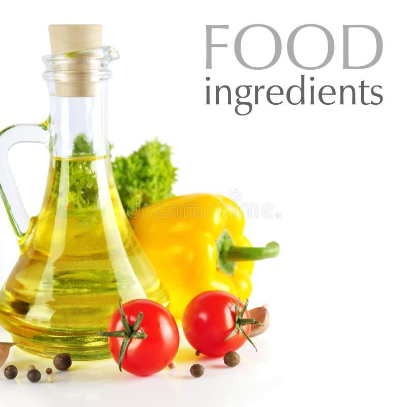 De ingrediënten van het voedsel royalty-vrije stock foto