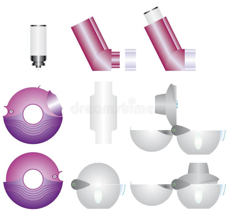 De inhaleertoestellen van het astma royalty-vrije illustratie