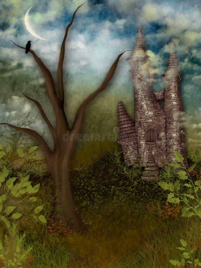 De Inham van het kasteel stock foto