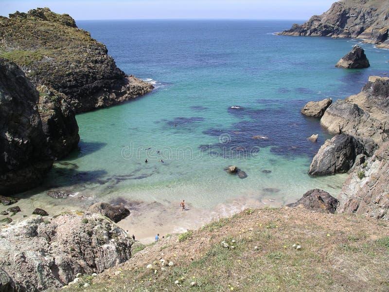 De Inham van Kynance. Cornwall royalty-vrije stock foto