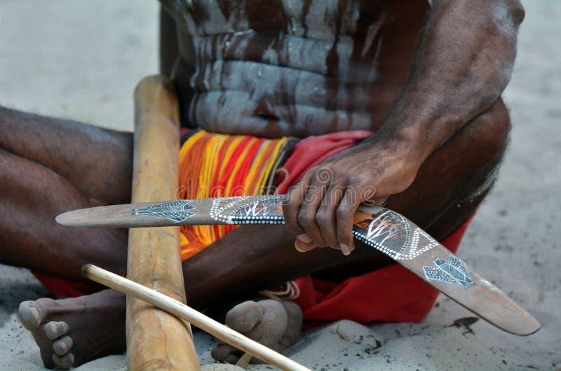 De inheemse cultuur toont in Queensland Australië royalty-vrije stock afbeeldingen